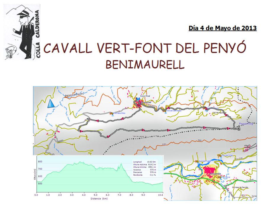 Benimaurell.-Cavall-Vert-Font-del-Penyó--04-05-2013
