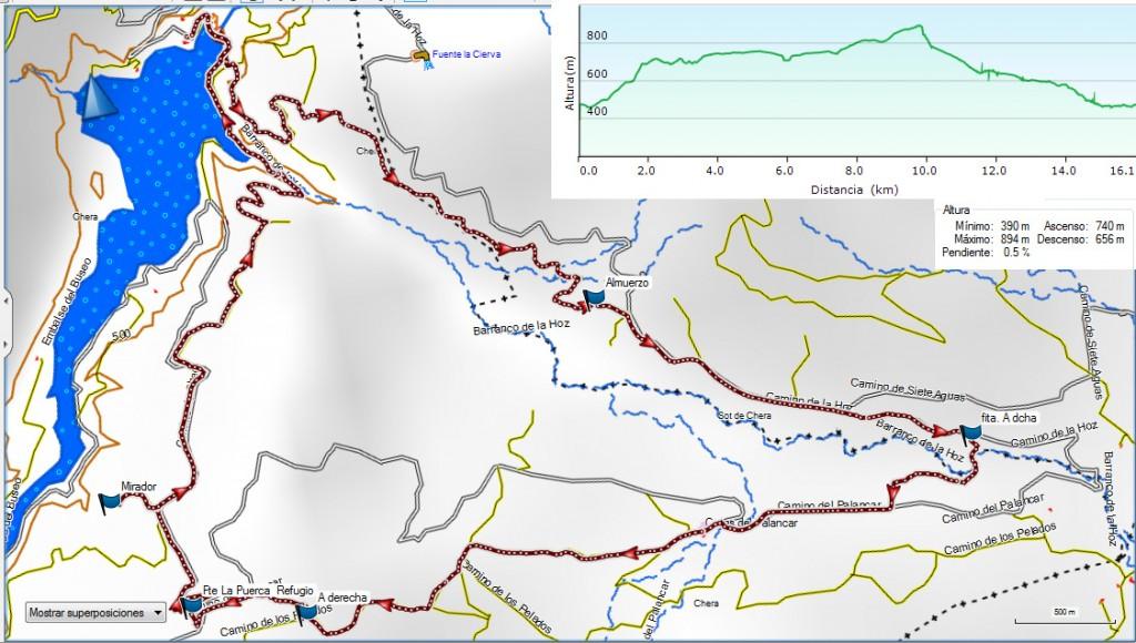 Chera. Pantano del Buseo-Barranco La Hoz 16-1-16