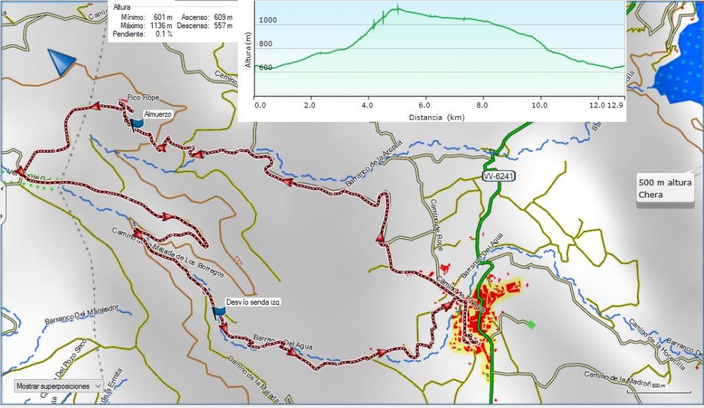 Chera. Pico Ropé-Bco del Agua. 13-5-17